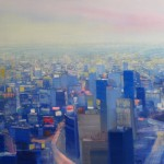 """Blue City"". oil on linen, 33"" x 50"", 2011"